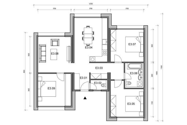 Timberhouse_modul-E_podorys
