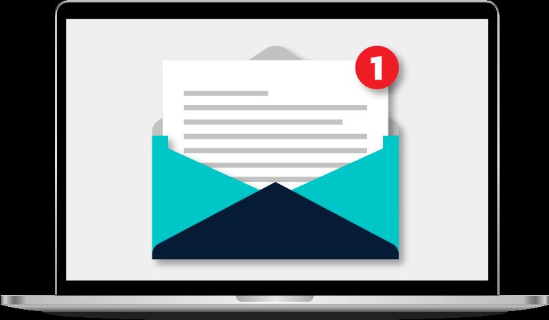 prijatý e-mail